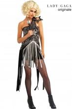 Costume Star Dress Lady Gaga argentato con paillettes