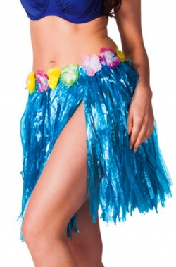 Gonna hawaiana 45cm blu
