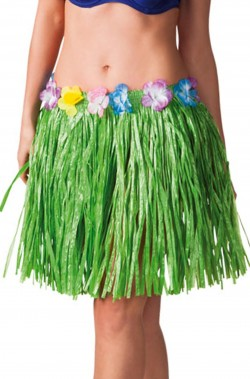Gonna hawaiana 45cm verde