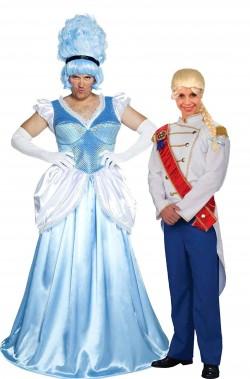Coppia di costumi adulto Principa Azzurra e Cenerentolo