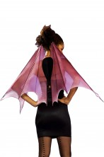 Ali Rosa pipistrello vampira 80 cm x 26