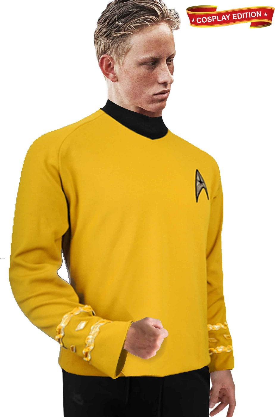 Star Trek maglia uniforme Capitano James Kirk Cosplay