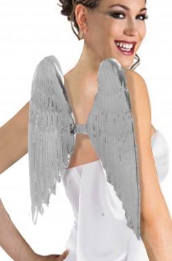 Ali argento da angelo rigide di plastica