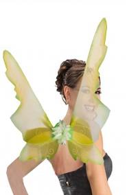 Ali verdi grandi da farfalla, elfa, fata trilli campanellino 50 x 70 cm