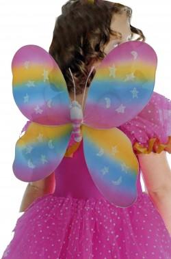 Ali farfalla bambina arcobaleno 48x53