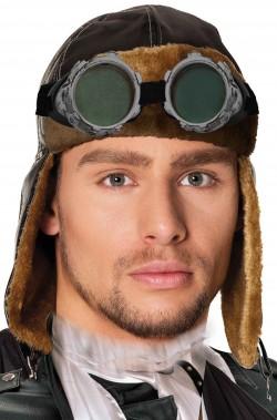 Cappello aviatore cuffia da pilota WWII e steampunk con occhiali