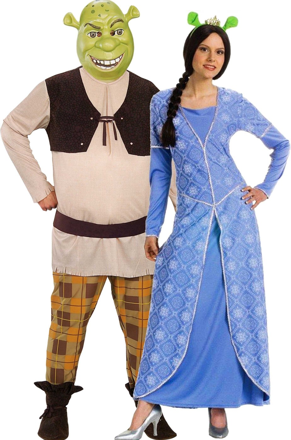 Coppia di costumi adulto Shrek e Fiona