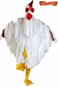 Costume da gallina bianca o pollo o gallo unisex adulto