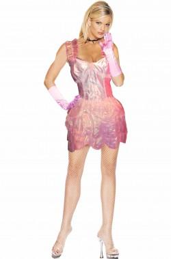 Costume rosa ragazza sigaretta del Rocky