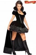 Costume regina nera donna adulta