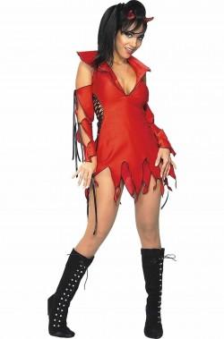 Costume Halloween Adulta Diavoletta spiritosa