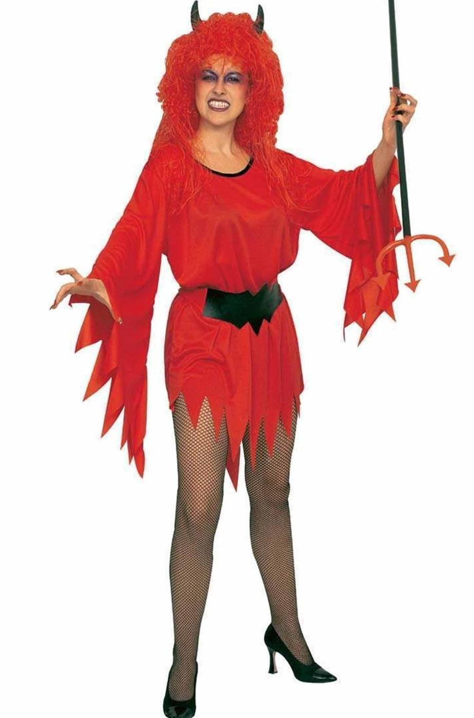 Costume Halloween Adulta Diavoletta Signora Diavola corto