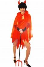 Costume Halloween donna diavoletta con mantello