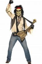 Costume uomo Halloween zombie rocker con chitarra
