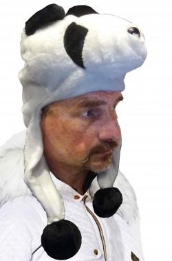 Cappello da panda con copriorecchie per adulto