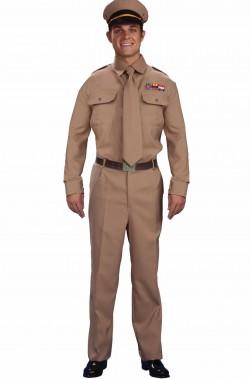 Costume uomo soldato ufficiale americano