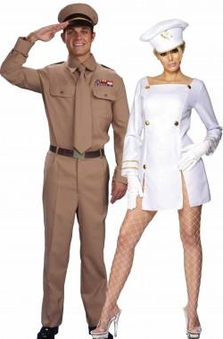 Coppia di costumi soldato e marinaia Candyman