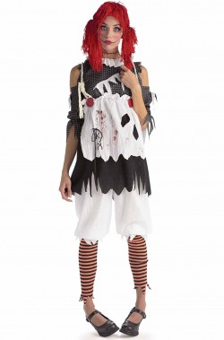 Costume halloween donna bambola dell'orrore