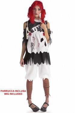 Costume donna bambola dell'orrore