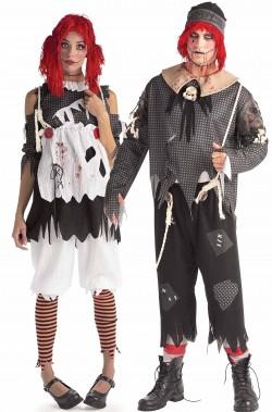 Coppia di Costumi Halloween Adulto bambolotti dell'orrore