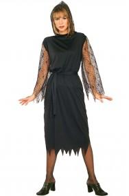 Costume donna Vampira Gotica Nero lungo