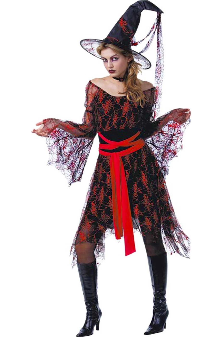 Vestiti Halloween Strega.Vestito Halloween Da Strega Donna Mille Veli Rossa Nera Bellissima