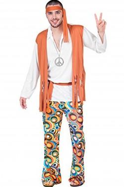 Costume uomo Hippy Anni 70 figlio dei fiori