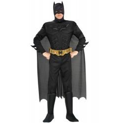 Costume Batman Nero The Dark Night Rises muscolare