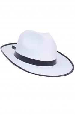 Cappello Gangster Al Capone Bianco monotaglia adulto