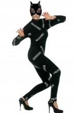 Costume donna gatto stile catwoman elasticizzata
