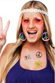 Set anni 70 figli dei fiori hippie