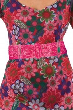 Cintura da donna stile anni 70 hippie o flower power rosa scuro