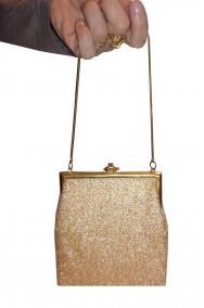 Borsetta a pochette oro vintage anni 20, charleston