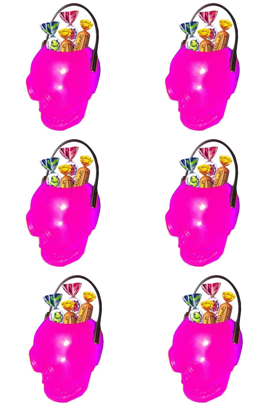 Coppetta Porta dolcetti segnaposto Halloween 4cm rosa