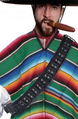 Cinturone a bandoliera cartuccera western o messicano