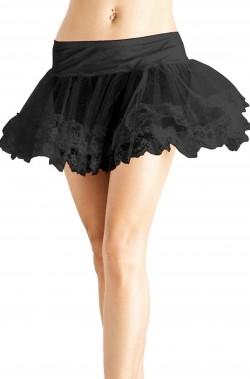 sottogonna nera con fascia elastica in vita