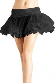 sottogonna nera con fascia elastica in vita tutu'