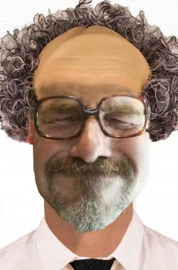 Occhiali da anziano marroni senza lente con montatura quadrata UP
