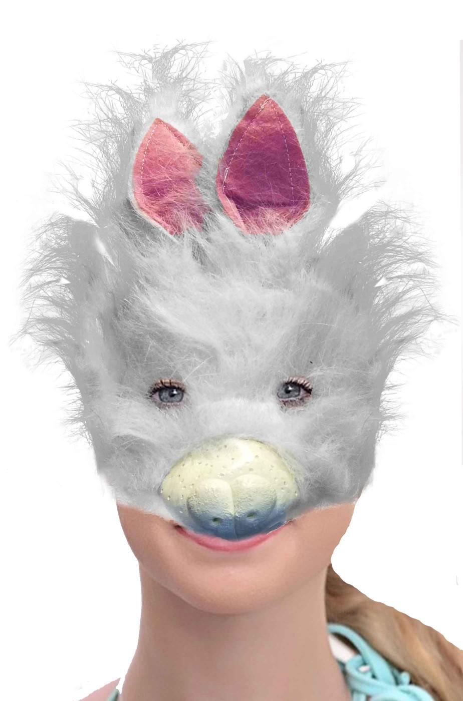 Maschera da coniglio bianco
