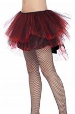 Sottogonna di tulle rossa e nera da ballerina adulta