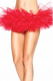 Sottogonna rossa tutu burlesque organza