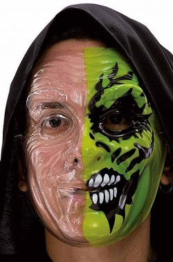 Maschera Two Face Zombie Trasparente