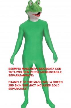 Maschera Rana verde in lattice anche per Kermit dei Muppet