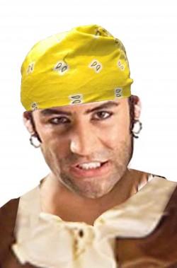 Bandana Pirata o Biker gialla da annodare