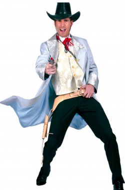 Costume uomo Cowboy Gambler del saloon
