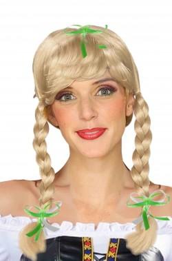 Parrucca donna bionda con trecce modello greta