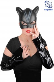 Set Catwoman con maschera manicotti e unghie originale DC Comics