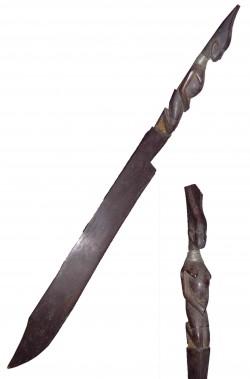 Coltello finto tribale masai tagliacarte di legno