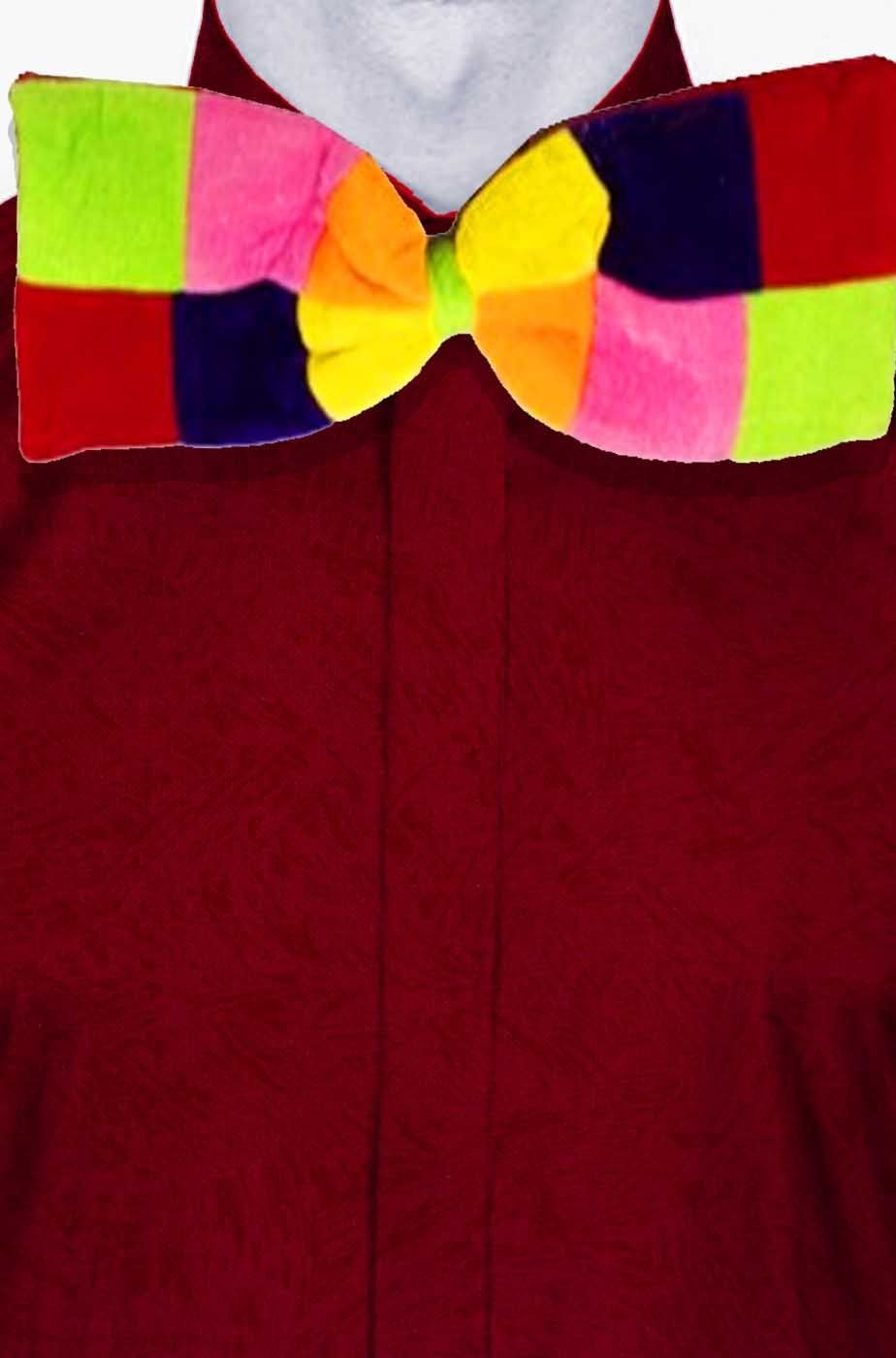 Cravattino da Pagliaccio a Farfallino Papillon grande da Clown