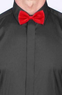 Cravattino Farfallino Papillon rosso satinato